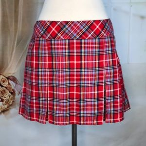 Abercrombie & Fitch Red Plaid Skirt